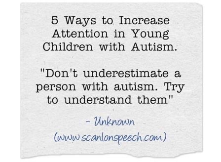Autism Attention 5 tips