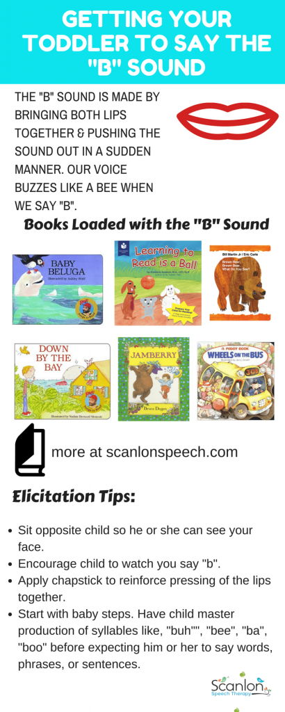Getting Toddler to Say B Sound