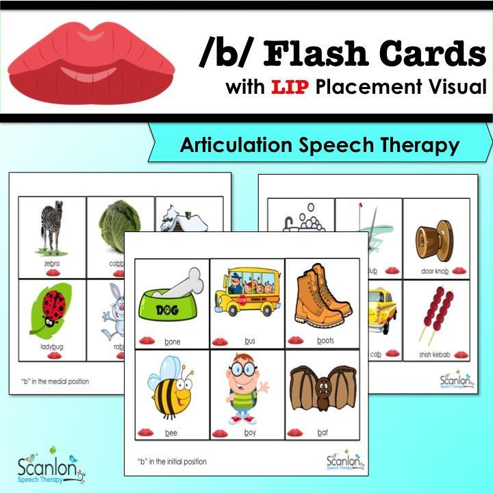 b sound flashcards
