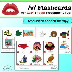 """""""v"""" sound flashcards"""