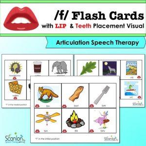 f sound, articulation cards