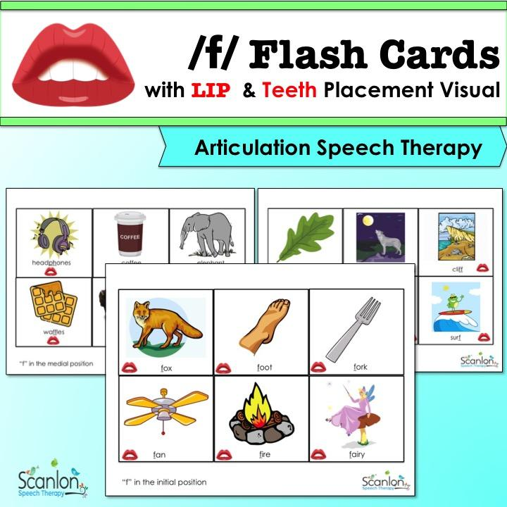 f sound, articulation cards