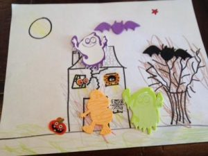 Halloween Activity with stickers and crayons to help follow directions