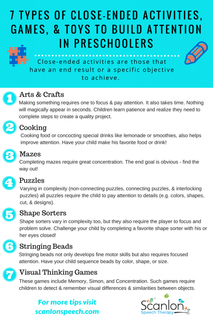 7 Types of Toys, Games, Activities to Improve Attention