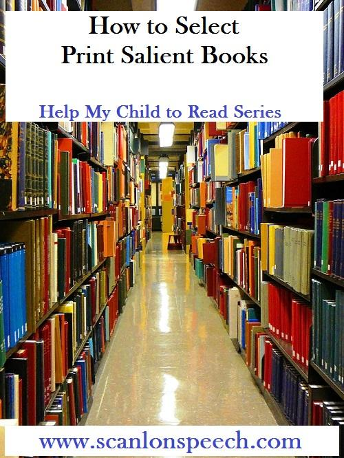 How to Select Print Salilent Books