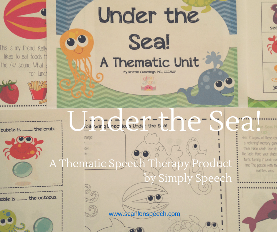 Under the Sea! Speech Therapy Product by Simply Speech