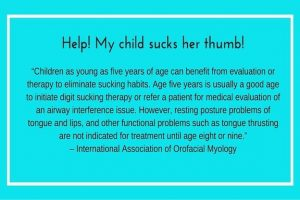 My Child Sucks Her Thumb