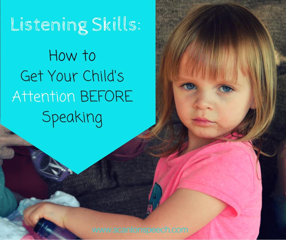 listening skills, attention