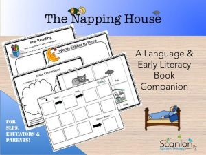 The Napping House, book companion, speech therapy