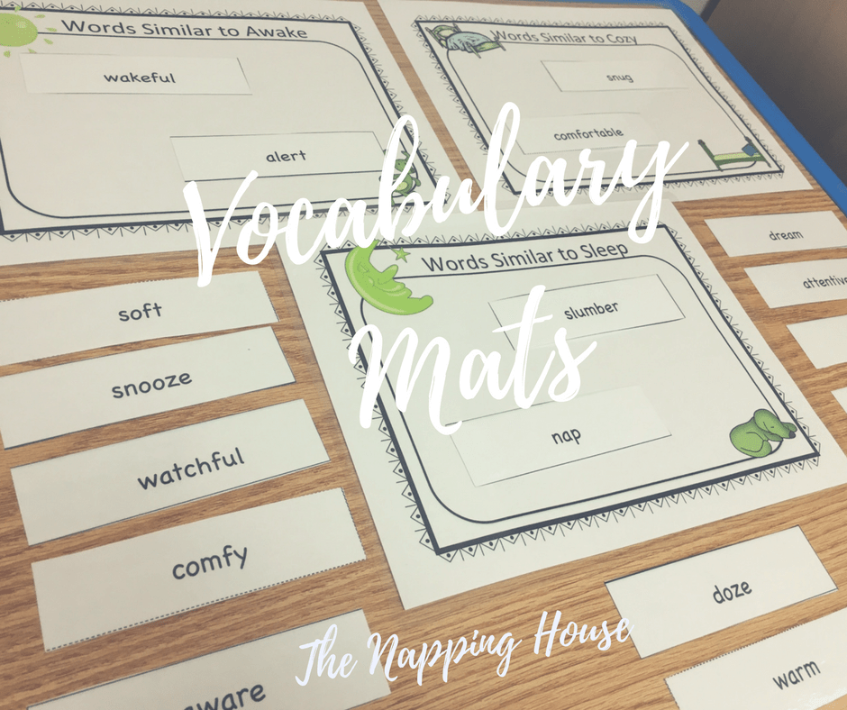 The Napping House, Vocabulary Mats