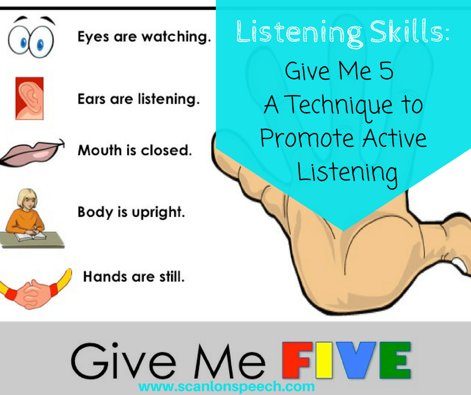 Listening Skills: Give Me Five