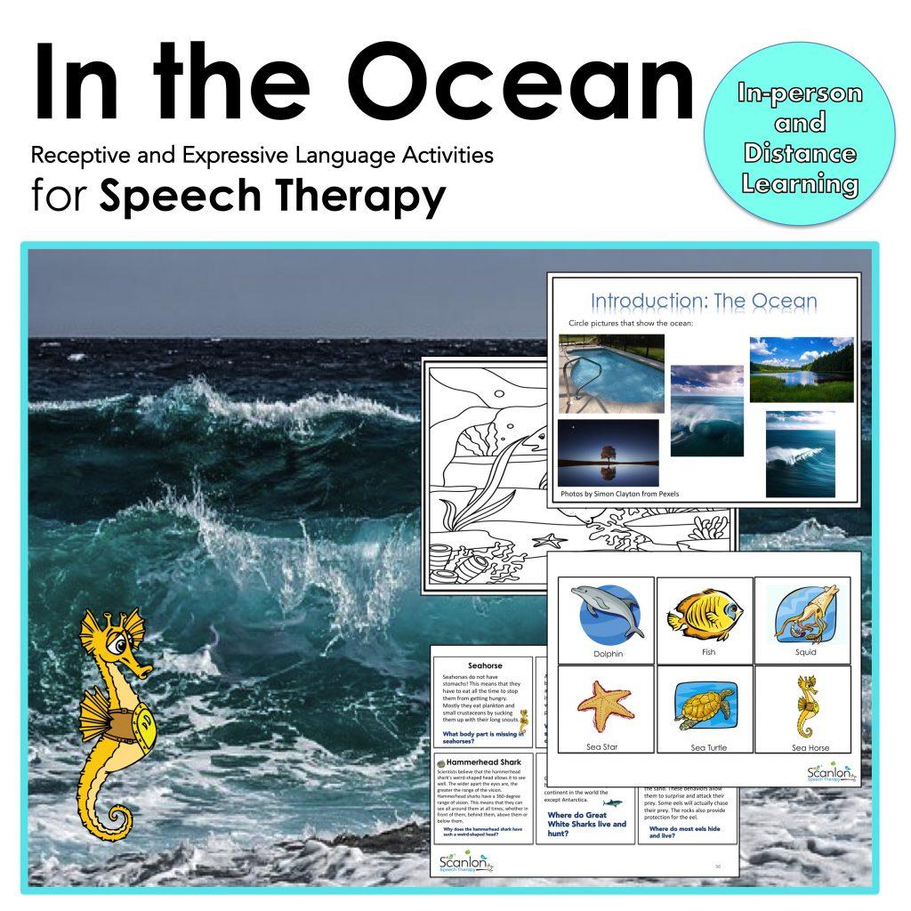 ocean, speech therapy, language activities
