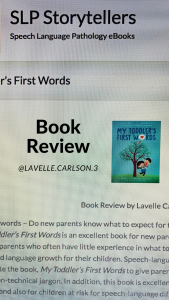 My Toddler's First Words Book Review by Lavelle Carlson