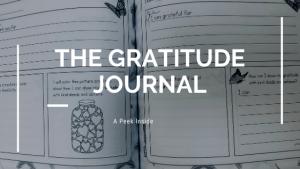 gratitude journal,