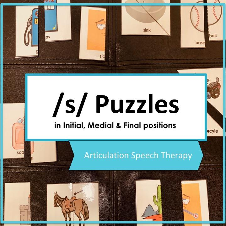 S Sound puzzles, articulation, speech therapy