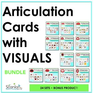 Articulation Flashcards, speech therapy