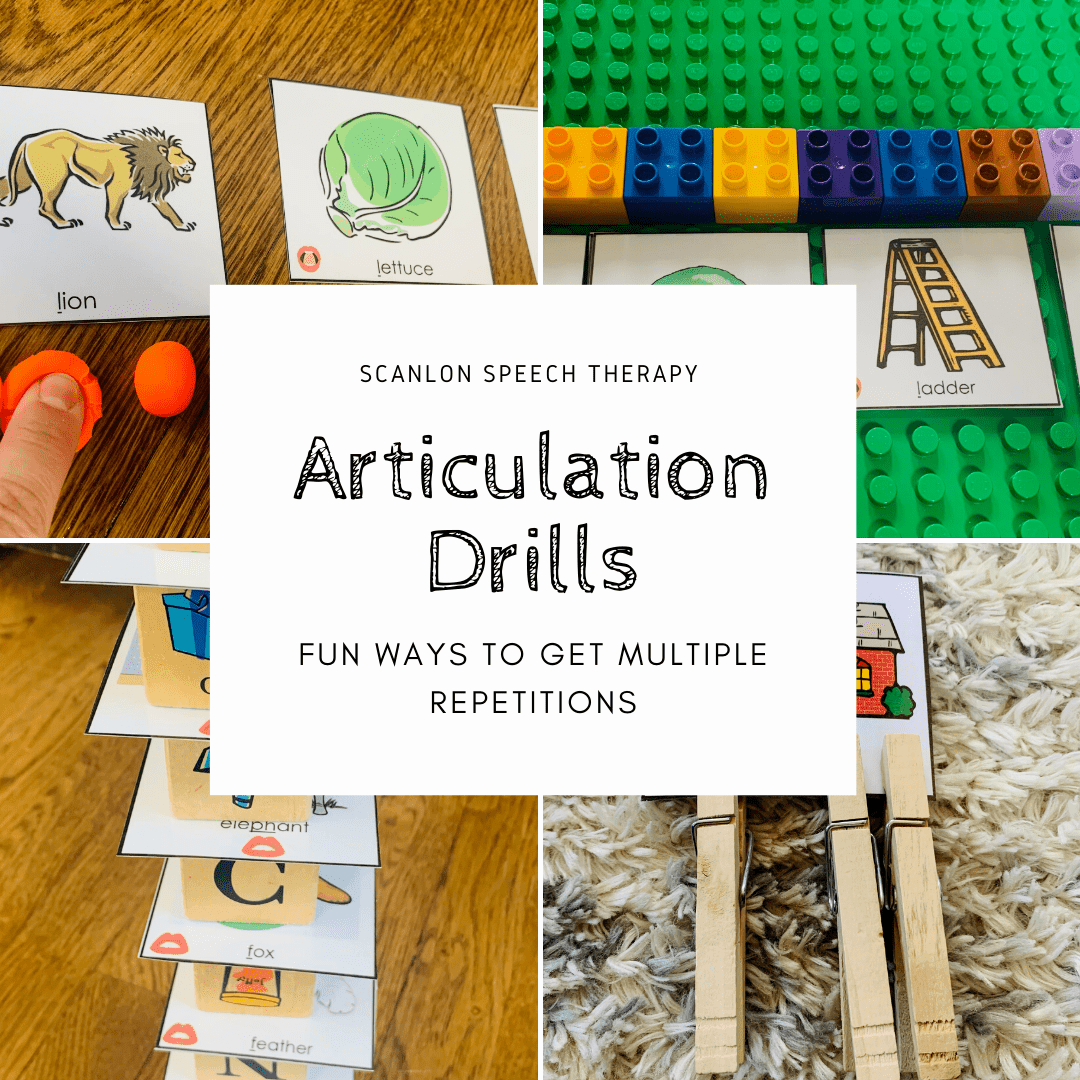 Articulation Drills, fun ways to get multiple repetitions during your speech therapy session