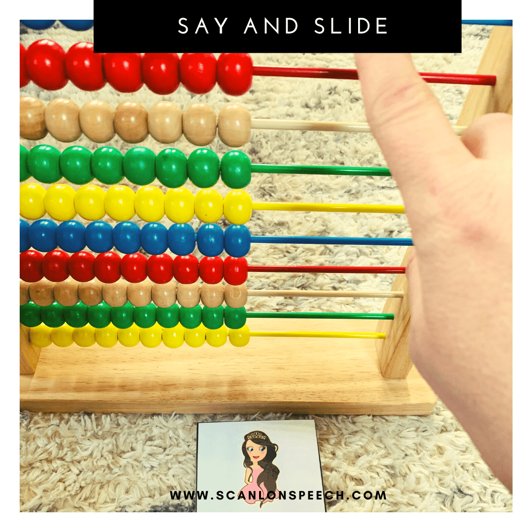 Say and Slide multiple repetitions for articulation speech therapy.