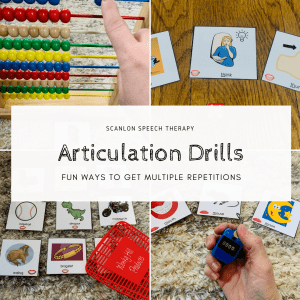 articulation drills, multiple repetitions