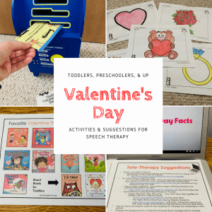 speech therapy, activities, valentine's day