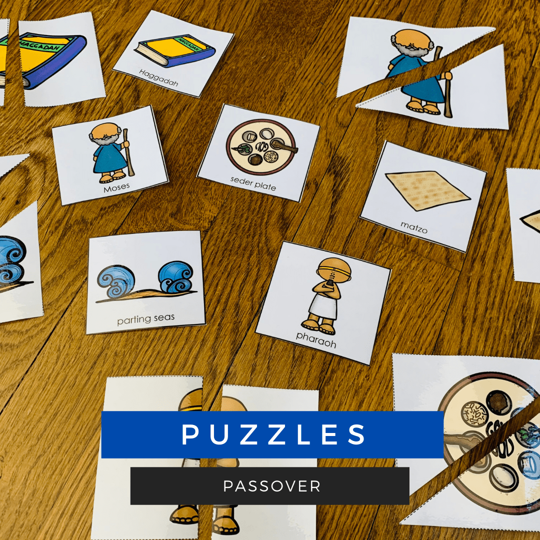 Passover Vocabulary Building Activities for speech therapy sessions.