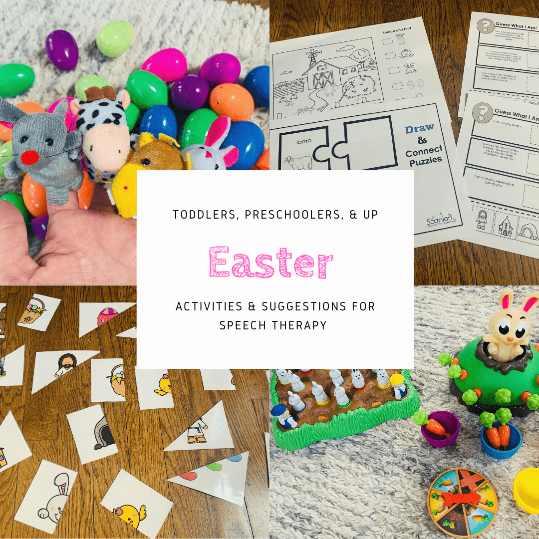 Easter activities for speech therapy