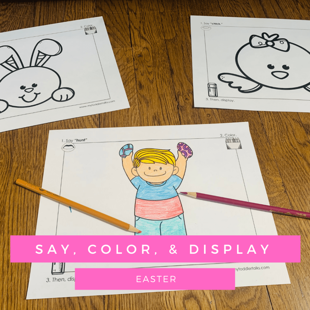 Coloring sheets for Easter - for speech therapy sessions.