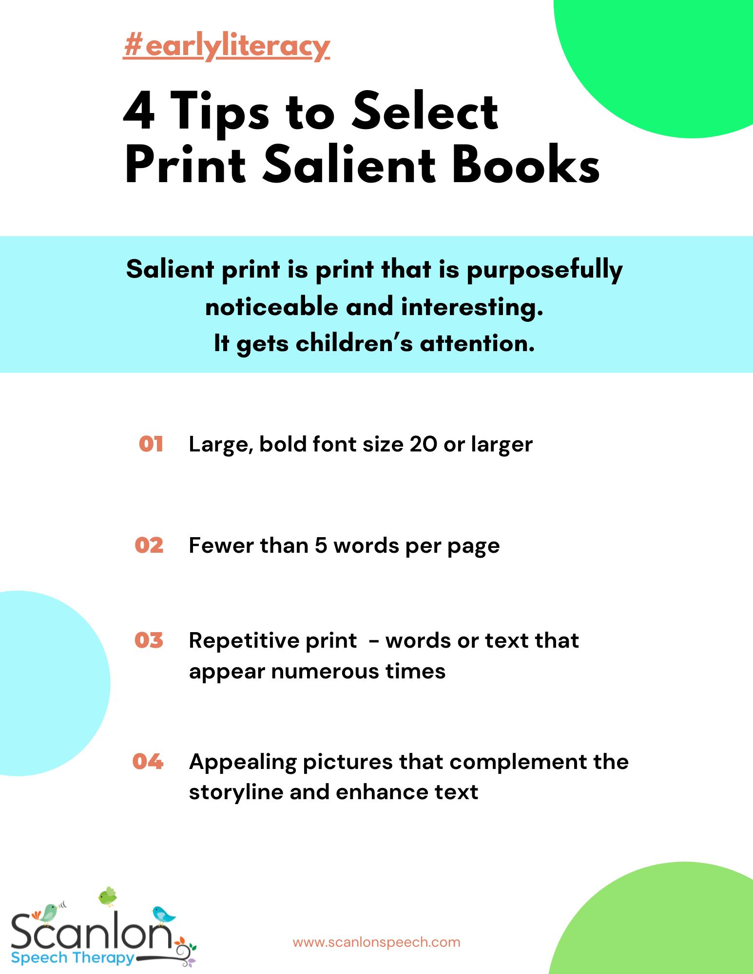 Print salient books